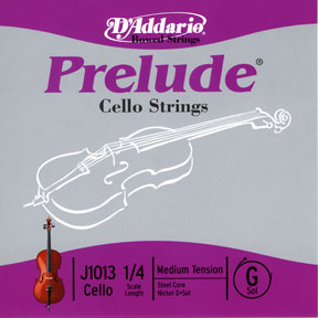 D'Addario Prelude 3/4 Size Cello G String