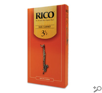 Rico Bass Clarinet Reeds Box of 25 Strength #3